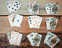 Guessing on cards Royalty Free Stock Image