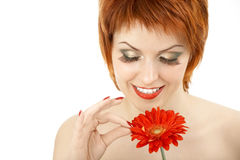 Guessing on a flower Stock Photography