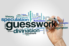 Guesswork word cloud Stock Images