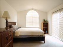 Guest Bedroom. In a bright California townhome Royalty Free Stock Images