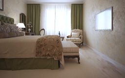 Guest bedroom in mediterranean style Royalty Free Stock Photo