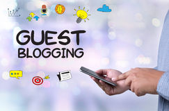 GUEST BLOGGING. Business team  Business team Royalty Free Stock Image