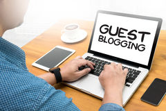 GUEST BLOGGING Stock Image