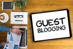 GUEST BLOGGING. Business team  Business team Royalty Free Stock Images