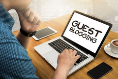 GUEST BLOGGING. Business team  Business team Stock Photography
