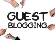 GUEST BLOGGING stock photography