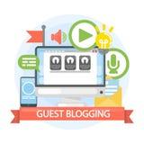 Guest blogging concept. stock illustration