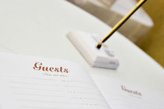 Guest book Stock Photos