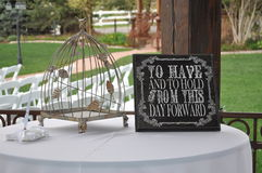 Guest Book Reception Table Royalty Free Stock Images