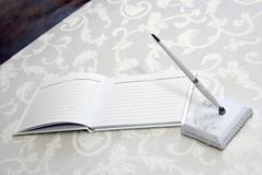 Guest Book at Wedding Royalty Free Stock Image