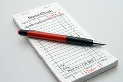Guest Check Book Royalty Free Stock Photos