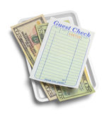 Guest Check and Cash Royalty Free Stock Photos
