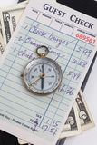 Guest Check and compass Stock Images