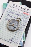 Guest Check and compass Royalty Free Stock Photography
