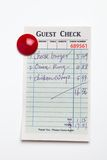Guest Check Royalty Free Stock Photos