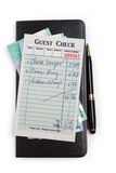 Guest Check and dollar Stock Image
