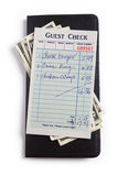 Guest Check and dollar Stock Photo