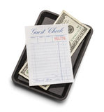 Guest Check and Money Royalty Free Stock Photography