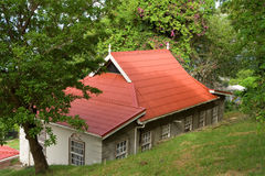 A guest cottage at belmont house on bequia Stock Image