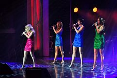 Guest entertainers show act. The Lady Luck feature headline guest entertainers show act onboard cruise ship Adventure of the Seas stock image