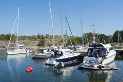 Guest harbour Landsort Stockholm archipelago Stock Image
