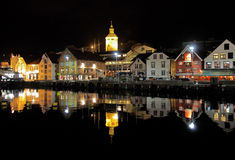 Guest harbour of Stavanger at the evening, Norway Royalty Free Stock Photo