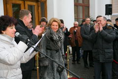 The guest of honor. Valentina Matvienko, one of the most famous contemporary female politicians. Stock Photo