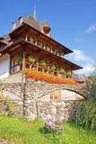 Guest house at barsana monastery. Guest house at barsana orthodox monastery in maramures - northern transylvania Royalty Free Stock Photo