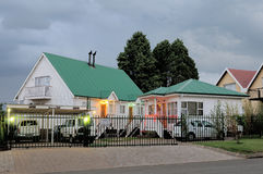 Guest house, Clarens, South Africa. CLARENS SOUTH AFRICA - DECEMBER 2013: Night view of a typical guesthouse in Clarens. Photo taken December 5th, 2014 Stock Photo