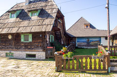 Guest House In Drvengrad Kusturica, Serbia stock photo