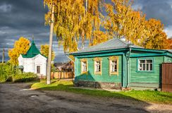 Guest house and Nikolskaya chapel Royalty Free Stock Images