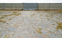 Guest house in KdF seaside resort Prora. Guest house with terrace in KdF-Seebad Prora Royalty Free Stock Photography