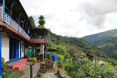 Guest house near Ghorepani, Nepal. Guest house on the tracking route to Ghorepani, Nepal. Ghorepani is a village in Myagdi District in the Dhawalagiri Zone of royalty free stock images
