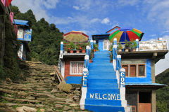 Guest house near Ghorepani, Nepal Stock Photo