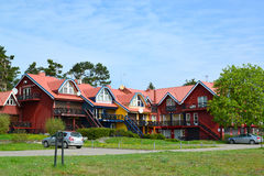 The guest house in Nida, Lithuania Royalty Free Stock Images