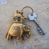 Guest house room key. India handcraft: guest house room key Stock Photography