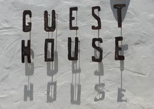 Guest House sign. A metal sign for a Guest House Stock Photo
