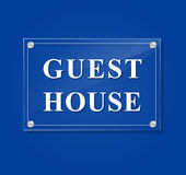 Guest house transparent sign Royalty Free Stock Photography