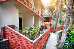 Guest house in tropic Stock Images