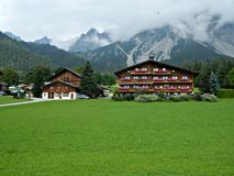 Guest Houses in austrian mountains. Stock Photography