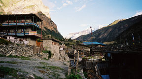 Guest houses in east Himalayas Stock Photos