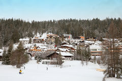 The guest houses on hill slope of Seefeld Stock Images