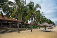 Guest houses among palm trees, Vietnam Stock Photos
