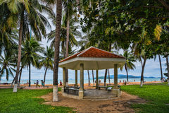 Guest houses among palm trees, Vietnam Stock Image