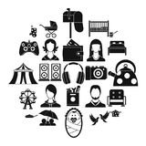 Guest icons set, simple style. Guest icons set. Simple set of 25 guest vector icons for web isolated on white background Stock Photo
