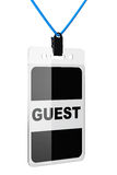 Guest Identification card Stock Photography