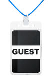 Guest Identification card Royalty Free Stock Photo