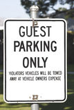 Guest Parking Royalty Free Stock Images
