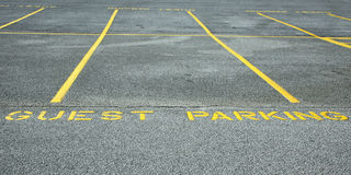 Guest parking Royalty Free Stock Image