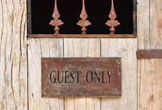 'Guest Only' plate Royalty Free Stock Images
